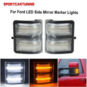 Led Side Mirror Marker Lights Lamp Clear For 2008 2016 Ford F250 F350 F450 F550