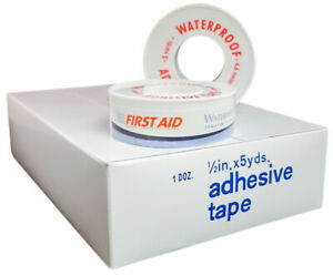 Frist Aid Strong Adhesive Waterproof Tape 1 2 X 5 Yards 36 Rolls Ms15100