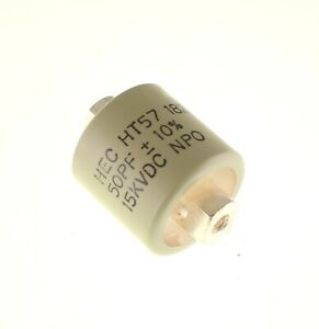 50pf 15000v Ceramic Transmitting Doorknob Capacitor 15kv Dc 15 000 Volts Ht57