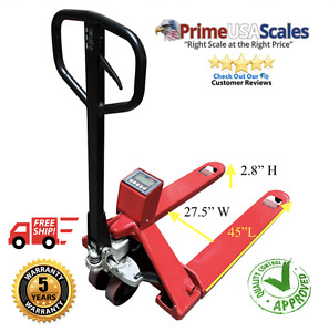 Prime Scales Ps 5000pj Heavy Duty Pallet Jack Scale High Capacity 5000 Lb