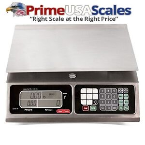 Torrey Lpc40l Electronic Price Computing Scale Rechargeable Battery Stainless