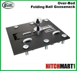 30k Curt Over Bed Folding Ball Gooseneck Trailer Hitch With 2 5 16 Ball 61052