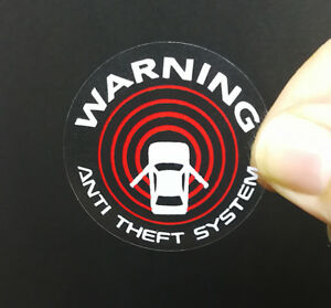 4 Car Alarm Decals Inside outside Glass Security System Window Stickers