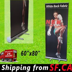 Standard Retractable Roll Up Banner Stand Trade Show Pop Up Display 60 X 80
