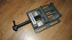 Palmgren Horizontal Drill Press Vise Low Profile 4 Jaw Opening Capacity