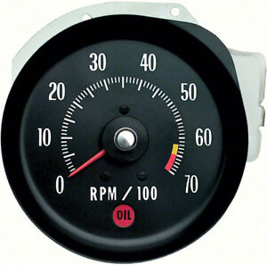 Oer 5657407 1971 Chevy Chevelle Ss Monte Carlo Ls6 Tachometer 6500 Red Line