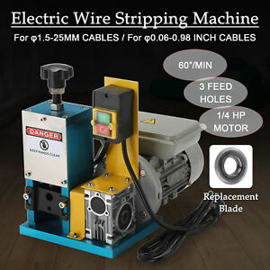Metal Scrap Cable Stripper Portable Electric Wire Stripping Machine Recycle Edy