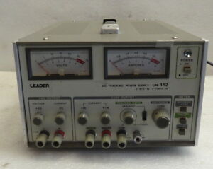Leader Lps 152 Triple Output Variable Power Supply 0 25vdc 1a 6vdc 5a