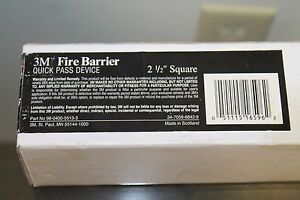3m Fire Barrier Pass through Device 2 5 X 2 5 X 10 98 0400 5513 3