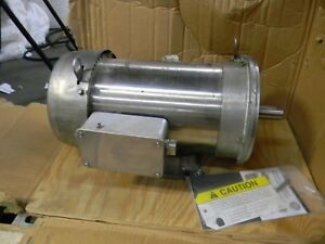 Us Motors 5 Hp Tefc C face Electric Motor 208 230 460v 3 Phase Wdp5p2ac