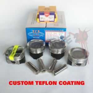 76mm D16 Ycp Vitara Turbo Pistons Npr Rings Teflon Coated Honda Civic Crx