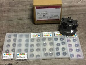 New Hitachi 2 1 2 Indexable Face Mill W 3 4 Arbor Hole Inserts