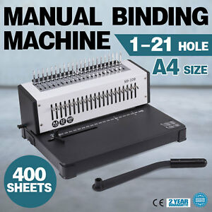Steel Comb Coil Binding Machine A4 21 Holes Paper Puncher Home Steel Documents