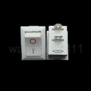 200 Mini Rocker Switch White 2 Pin Spst On off 20 13mm Snap in