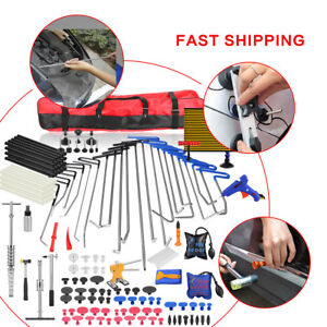 Car Paintless Dent Repair Puller Lifter Hail Automotive Rods Hammer Tool Kit