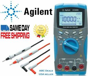 Agilent U1242a True Rms Digital Mutlimeter Agilent Test Leads Usa Seller Fluke