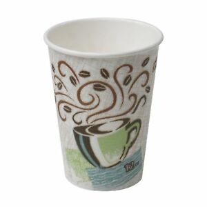 Dixie Perfectouch 5342cd Insulated Paper Hot Cup New Coffee Design 12 Oz case
