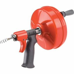 Cleaning Clog Ridgid Plumbing Power Spin Drain Cleaner Snake Auger Cable Tool