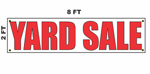 Yard Sale Banner Sign 2x8 For Business Shop Building Store Front