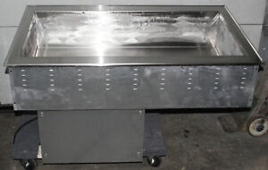 Vollrath 36442 Drop in Refrigerated Food Well 3 Pan Ice Cream Toppings Bar Salad