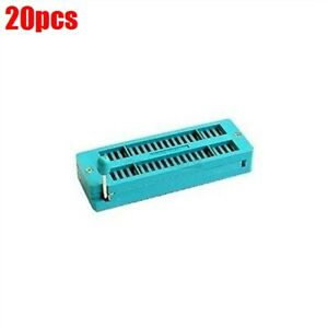 20pcs 40pin Universal Zif Socket For Dip Ic Mcu 40 Pin Us Stock X