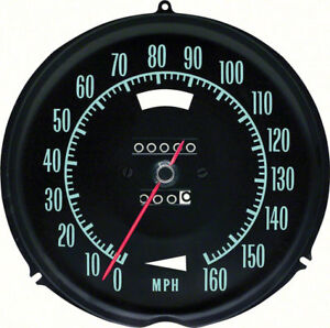Oer 6492696 1969 1971 Chevy Corvette 160mph Speedometer Without Speed Warning