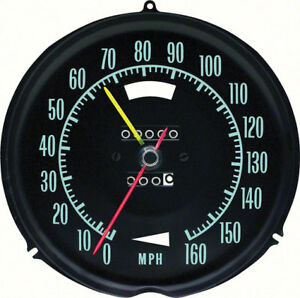 Oer 6492697 1969 Chevrolet Corvette 160mph Speedometer With Speed Warning
