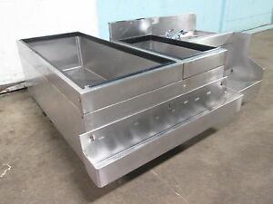 glas Tender Bartender Station W 8 Lines Cold Plate Ice Bin Speed Rail