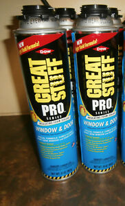8 Cans Dow Great Stuff Pro Window And Door 20oz Foam Insulating Sealant Exp 2019
