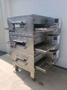 Middleby Marshall Bg2136 ps536 Triple Deck Conveyor Pizza Oven Belt Width 20