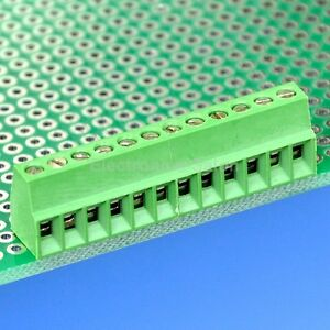 12 Poles 2 54mm 0 1 Pcb Universal Screw Terminal Block X100pcs