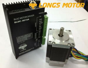 57blf02 Brushless Dc Motor 125w 24v 3000rpm Driver Bldc 8015a Cnc Router Longs