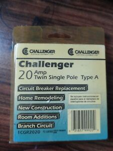 Challenger 20 Amp Twin Single Pole Circuit Breaker Type A 1cgr2020