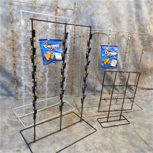 Lot Metal Chip Clip Racks Standing Countertop Display Hanging Store Vintage A