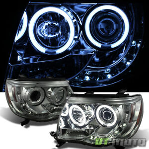 For Smoke 2005 2011 Toyota Tacoma Truck Led Ccfl Projector Headlights Left Right