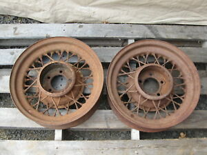Ford Dodge Vintage Kelsey Hayes 16 Inch Wire Wheels