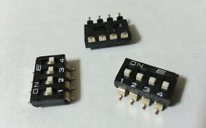 Dip Switch 4 position Off on Spst Slide E switch Kae04lggt Smd Pcb Mount 336pcs