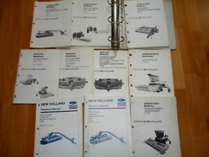 10 New Holland Speedrower Windrower Mower Conditioner Operator Service Manuals