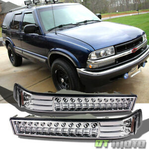 1998 2004 Chevy S10 Blazer Sonoma Led Bumper Lights Signal Lamps Replacement Set