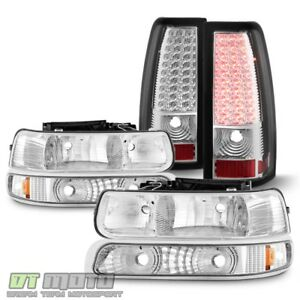1999 2002 Chevy Silverado 1500 2500 3500 Headlights Bumper Lamps Led Tail Lights