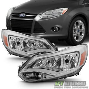 Replacement 2012 2014 Ford Focus Halogen Model Headlights Headlamps Left right