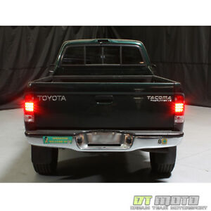 For 1995 2000 Toyota Tacoma Pickup Lumileds Led Red Smoke Tail Lights Left right