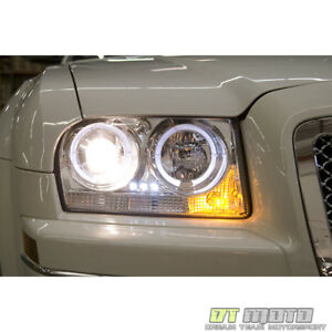 Fits 08 09 10 Chrysler 300 Halo Projector Led Headlights Lights Lamps Left Right