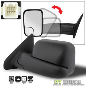 02 08 Dodge Ram 1500 03 09 2500 3500 Tow Flip Up Power Heated Mirror Driver Side