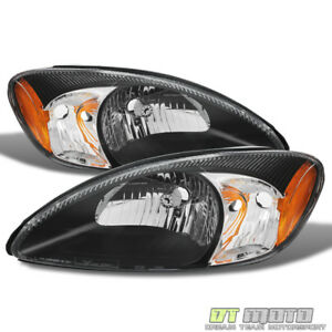 2000 2007 Ford Taurus Black Replacement Headlights Headlamps 00 07 Left right