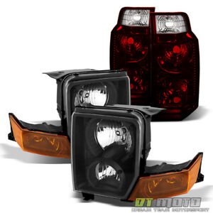 2006 2010 Jeep Commander Blk Headlights Headlamps Tail Brake Lights Replacement