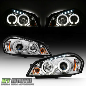2006 2013 Chevy Impala 06 07 Monte Carlo Led Halo Drl Projector Headlights Lamps