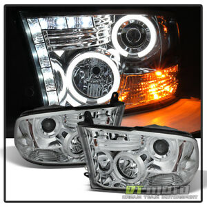 2009 2018 Dodge Ram 1500 Ccfl Halo Projector Headlights Led Drl Running Lamps