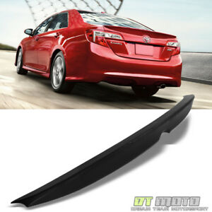 For 2012 2013 2014 Toyota Camry Le Xle Se Rear Trunk Abs Spoiler Matte Black