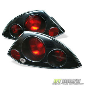 Black 00 02 Mitsubishi Eclipse Tail Lights Lamps Left right Pair Set Aftermarket